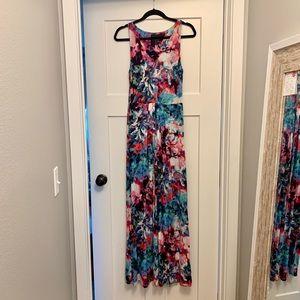 Cynthia Rowley colorful maxi dress